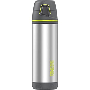 Thermos ELEMENT5 16 Ounce Vacuum Insulated Stainless Steel Backpack Bottle, Charcoal/Lime