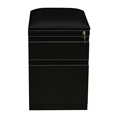 Pro Series Two Drawer Mobile Pedestal File Cabinet, Black, 20 inches deep (22295)