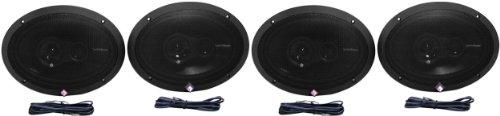 (2 Pairs Rockford Fosgate R1693 6x9 480w 3 Way Full-Range Car Speakers)