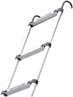 Escalera extensible/ Escalera telescópica Escalera de extensión con Ganchos - Escaleras de Tijera de Aluminio Multiusos portátiles Plegables Altas, 3.2M / 4.05M / 4.8M, 150KG: Amazon.es: Hogar