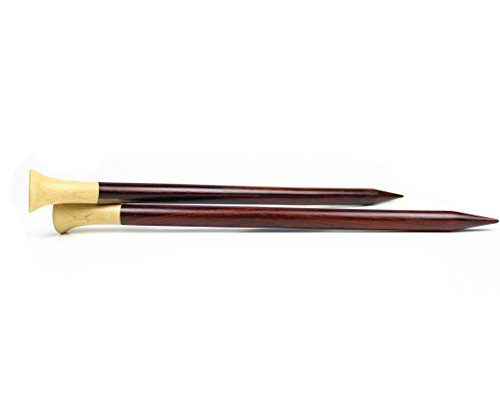 10mm Premium Rosewood Knitting Needle With Maple Head | Yarn Stitching Accessories | Nagina International