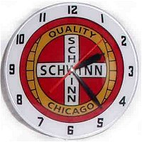 Double Bubble Schwinn Glass Clock Bicycle Double Bubble Clock