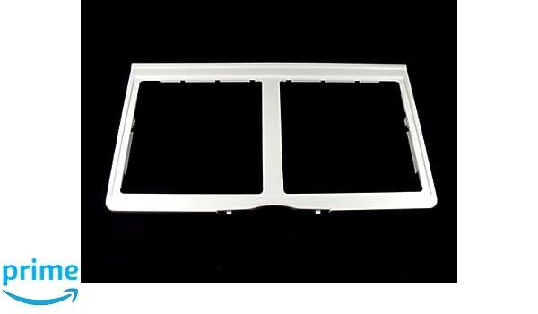 White LG Electronics 3551JJ1065C Refrigerator Crisper Cover Frame