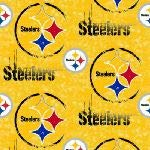 Country Snuggles Pittsburg Steelers Yellow Fleece Handcrafted Blanket with Free Matching Pillowcase