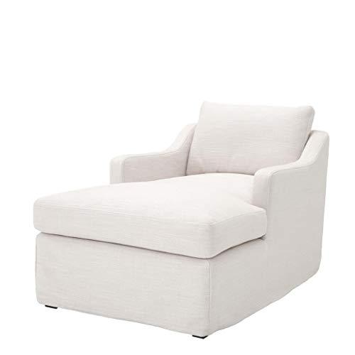 - Off-White Lounge Chaise | EICHHOLTZ CLANDON | Avalon White Fabric Cushion Chaise Sofa | Modern Luxury Furniture