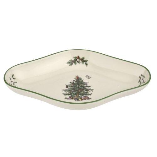 Spode 1669413 Diamond Shaped Dish Green