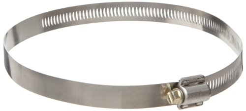 Dixon HS312 Stainless Steel Worm Gear Clamp with SAE 1018 Case-Hardened Steel Screw, 9/16