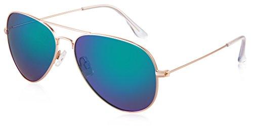 de sol Gafas Mirrored green JAVIOL hombre para Gold RwfRqB