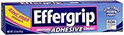 Effergrip Denture Adhesive Cream - 2.4 oz, Pack of ()