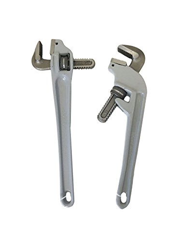 14'' Offset Adjustable Aluminum Pipe Wrench Set (90 Degree and 45 Degree) by EZ Travel Collection