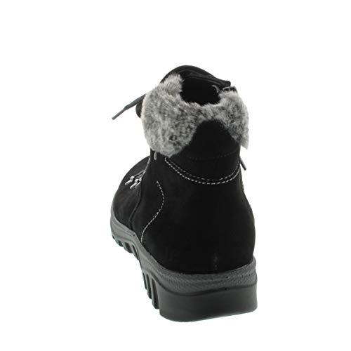Lacets à Noir Femme Waldläufer Bottes qEOTcz