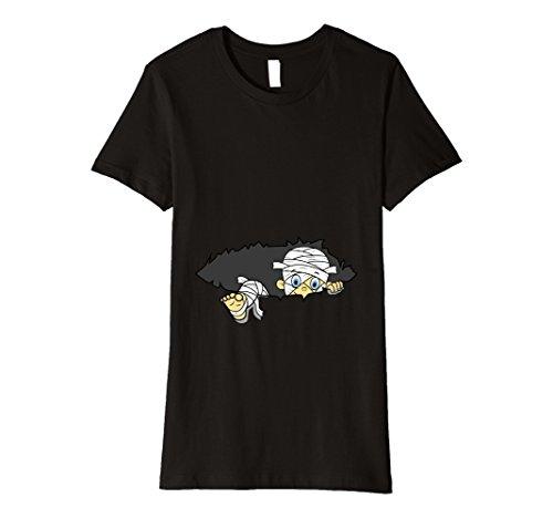 Mummy Costume For Pregnant (Womens Halloween Preganancy Shirt | Zombie Mummy Baby T-Shirt XL Black)