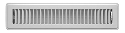 Accord ABFRWH214 Floor Register with Louvered Design, 2-Inch x 14-Inch(Duct Opening Measurements), White