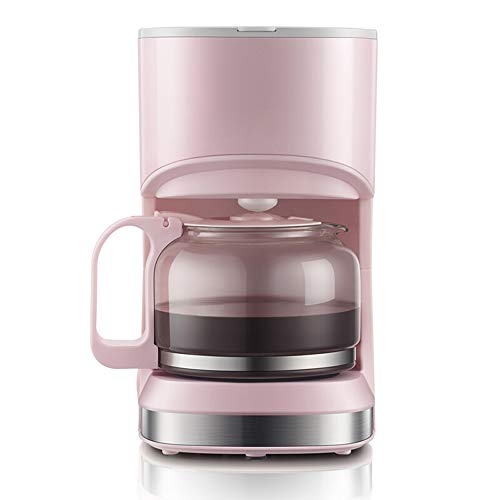 Glo buy Portable Coffee Machine,Automatic American drip Coffee Machine,5 Cup Coffee Pot 220V for Home Coffee and Tea,Pink