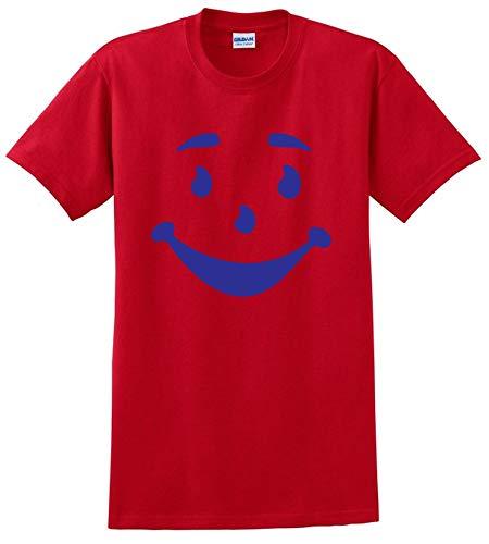 Kool AID Man FACE Funny Gift Halloween Costume Mens Adult TEE T-Shirt -