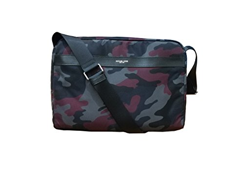 Michael Kors Mens Kent Large Messenger Bag Malbec Camouflage