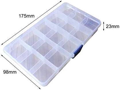 Tivollyff 貴重品用の15個のグリッドクリエイティブ収納ボックスジュエリージュエリーキャッシュクリアプラスチックジュエリーボックスオーガナイザー収納容器