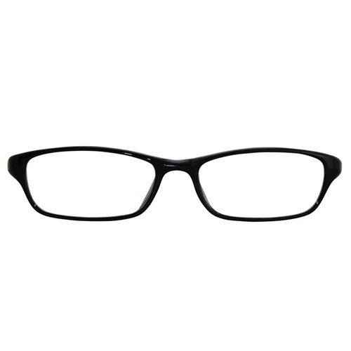 EyeBuyExpress Shield Black Reading Glasses Magnification Strength 8