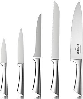 5-Piece Sky Light Stainless Steel Cutlery Knife Gift Set