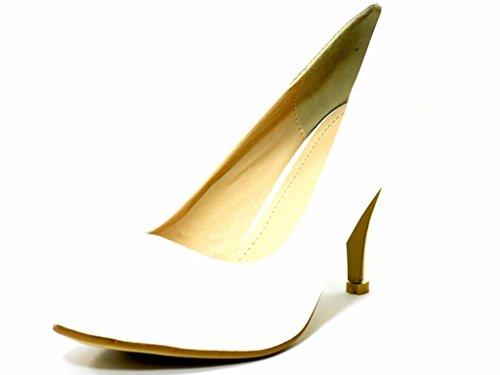 Heel 3 Schuhe Büro UK Größe Formelle für Weiß Damen Absatzschuh Mittlerer dwvqFxYBB