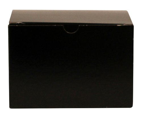 Premier Packaging AMZ-142001 10 Count Gloss Decorative Gift Box, 6 by 4 by 4-Inch, Black
