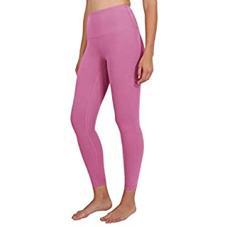 90 Degree By Reflex Ankle Length High Waist Power Flex Leggings - 7/8 Tummy Control Yoga Pants - Cuban Orchid - Medium