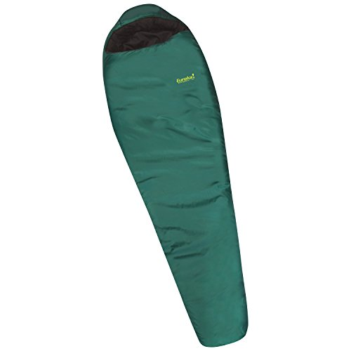 Eureka! Wild Basin 0-Degree, 3-Season Mummy Sleeping Bag, Regular Size, Green/Black (4 Pounds 13 Ounces)