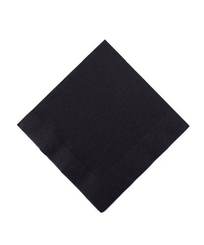 Jet Black 3-Ply Beverage Napkins | Pack of 50 |Party Supply -