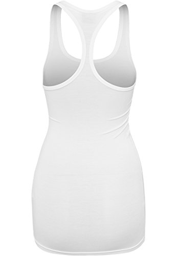 Ladies Fitted Viscon Racerback Tank white M