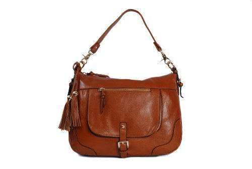 0aaccd6257b1 Brown Tan Leather Shoulder Handbag Saddle Bag Style by Smith ...