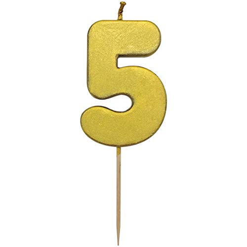 (TriCloud Numeral Candles for Birthday Cake Decoration - Cupcake Toppers for Adornment | Party Supplies for Wedding and Kids Theme Party)