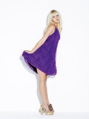 Love label one shoulder lace dress