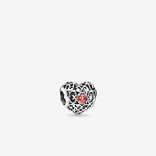 Pandora Signature Heart Birthstone Charm