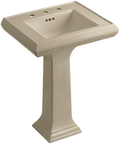 33 Memoirs Pedestal - KOHLER K-2238-8-33 Memoirs Pedestal Bathroom Sink with 8