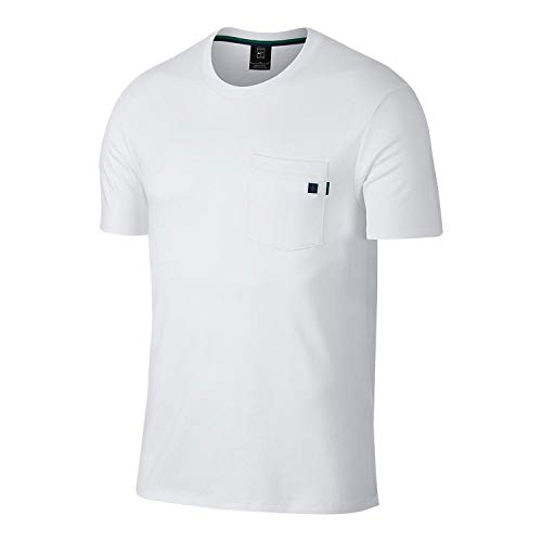 6efdf3d2 Nike Men's Roger Federer Court Essential Tennis T-Shirt (Large,  White/Obsidian/Game Royal)