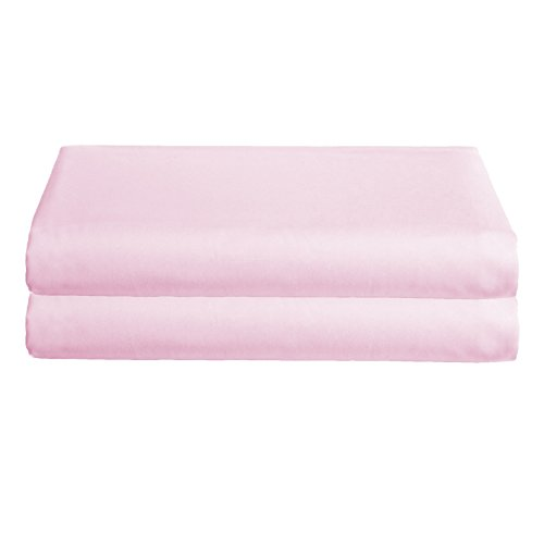 Babydoll Bedding Poly Cotton Set of 2 Cradle Sheets, Pink, 15'' x 33'' by BabyDoll Bedding