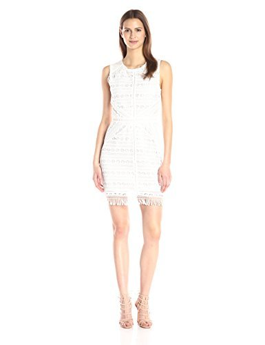 Greylin Womens Mina Fringe-Lace Dress