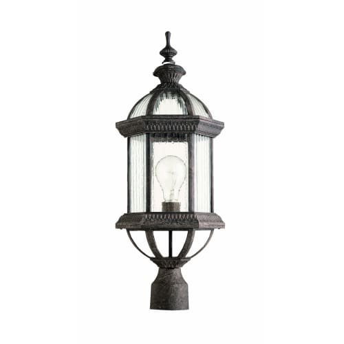 - Quorum International Q7816 Stelton 1 Light Outdoor Post Light, Baltic Granite