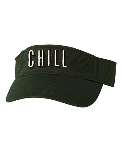 (Go All Out Adjustable Forest Adult Chill Embroidered Visor Dad Hat)