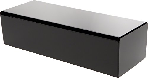 Plymor Brand Black Acrylic Rectangular Display Base, 4