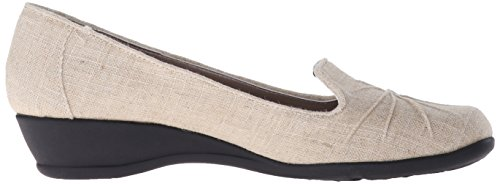 Soft Style by Hush Puppies Rory Grande Lona Plataformas Natural Sparkle Linen