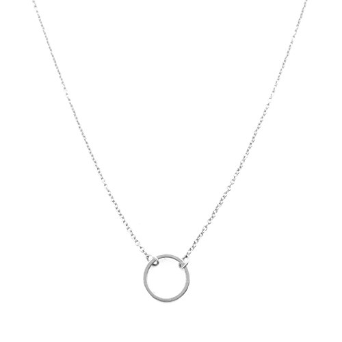 HONEYCAT Silver Mini Karma Open Circle Orbit Necklace | MadeWell, Minimalist, Delicate Jewelry