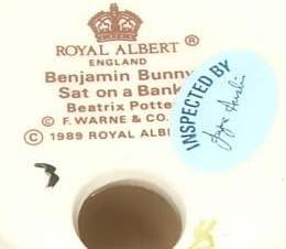 Beatrix Potter Benjamin Bunny Sat On A Bank by Royal Albert