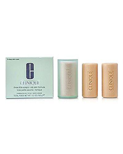 - Clinique Three Little Soaps, Oily Skin formula, 3 Count