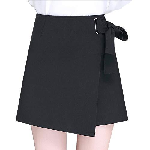 Valin FS6953 Jupe Club Mini Short Grande Taille Ajoure Noir