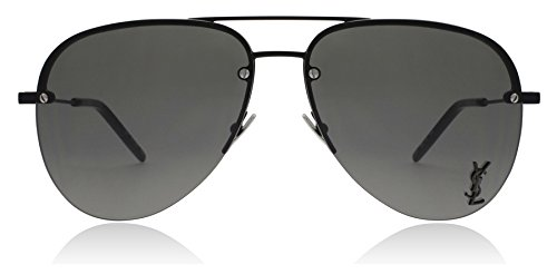 Saint Laurent Classic 11M 001 Black Classic 11M Aviator Sunglasses Lens - Laurent Sunglasses Classic Aviator Saint 11
