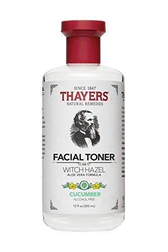 Thayer's Natural Remedies Facial Mist With Aloe Vera Formula Face Toner, Witch Hazel Cucumber, 12 ounces