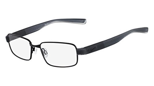 Nike 8166 010 54, Monturas de Gafas para Hombre, Satin Black/Magnet Grey