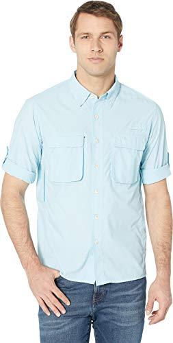 ExOfficio Men's Air Strip Long Sleeve, Air Blue, Large (Air Exofficio Mens)