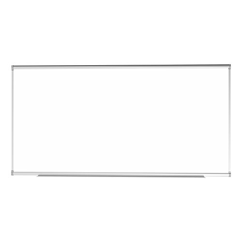 Learniture Porcelain Steel Magnetic Dry Erase Board w/Aluminum Frame & Map Rail (8' W x4' (Magnetic Porcelain Dry Erase)